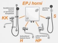 EPJ horní umístění s baterií