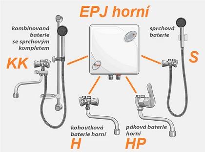 varianty EPJ s baterií horní